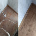 Комбинированное фото перед уборкой пола и после неё