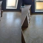 Комбинированное фото из двух частей до и после уборки