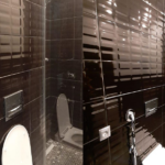 Комбинированное фото санузла до и после уборки